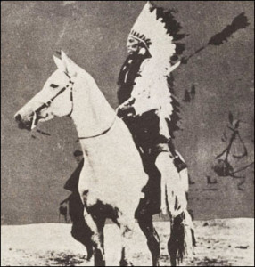 Picture of Quanah Parker, Chief of the Kwahadi Comanches.
