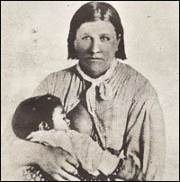"Picture of Flower,"" the mother and sister of Chief Quanah Parker"