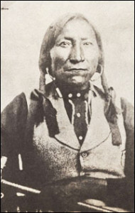 Picture of Lone Wolf, fierce Kiowa chief.
